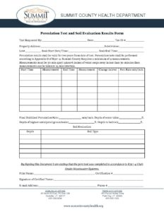 2016 perc test report form - Summit County Health Department